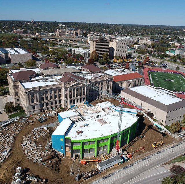 Central High School Foundation - Addition at Central High School Under Construction