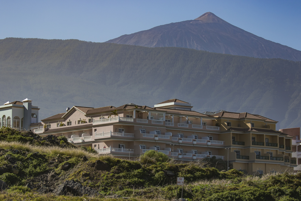 Mount Teide Background View of hotel