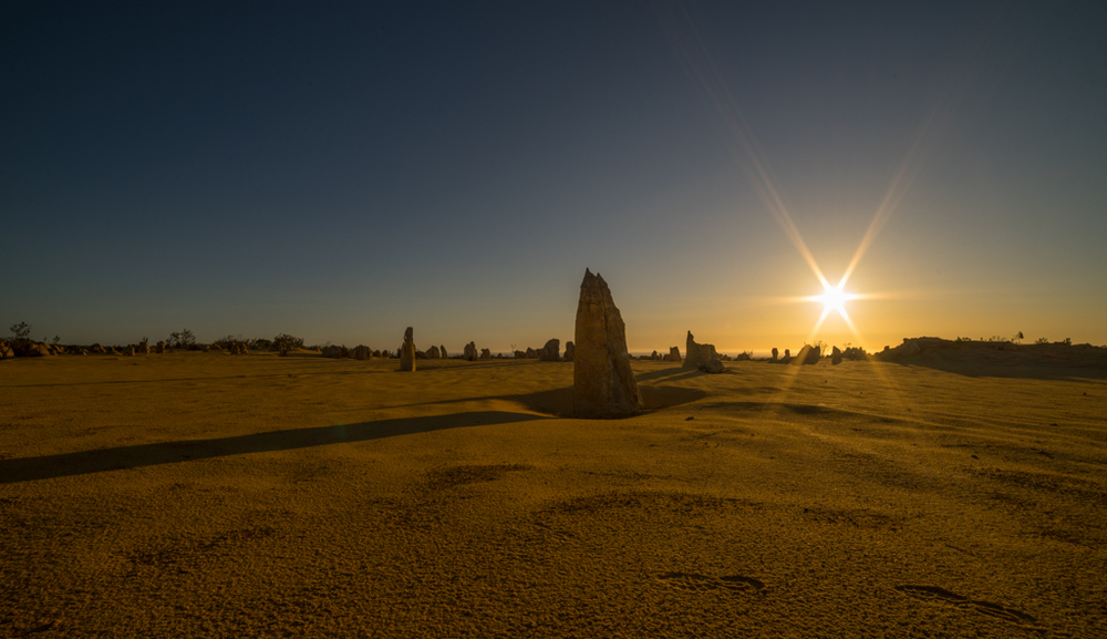 Beautiful Pinnacles sunset