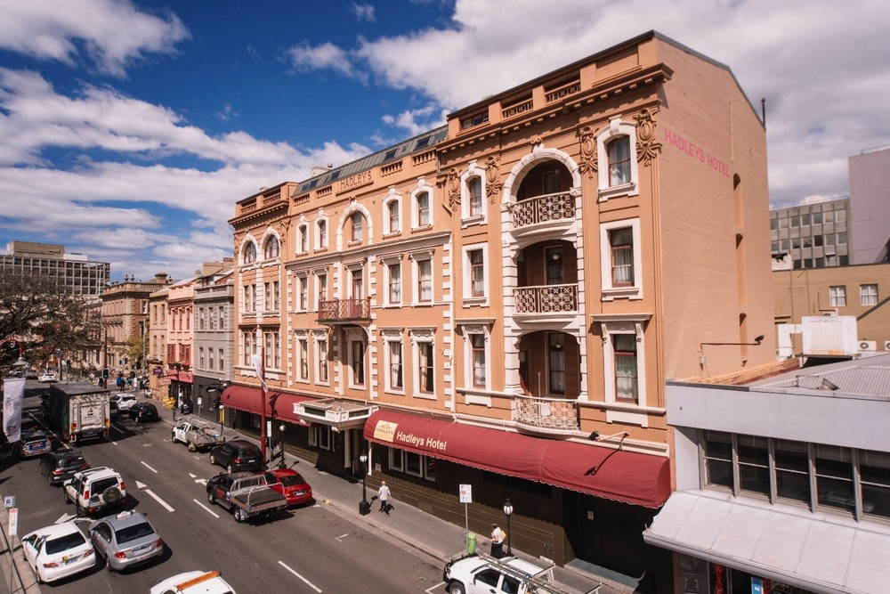 Originally built by convict labour in 1834, the recently restored Hadley's is now one of the oldest boutique hotels in Australia (image courtesy Hadley's Orient Hotel)