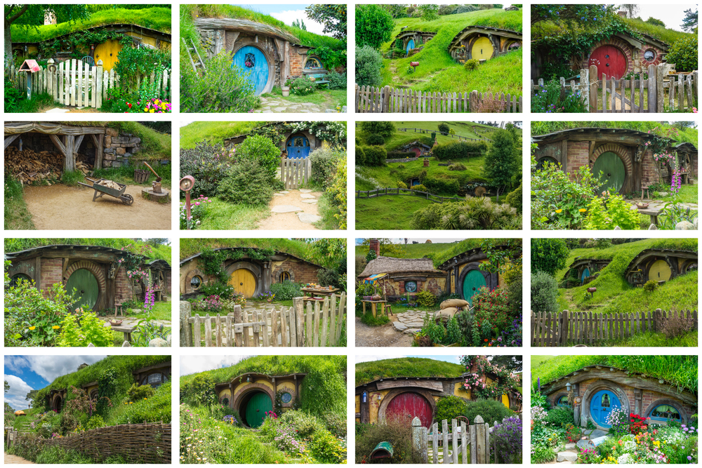 Hobbit Holes - I was short enough to stand in the doorway without bumping my head!