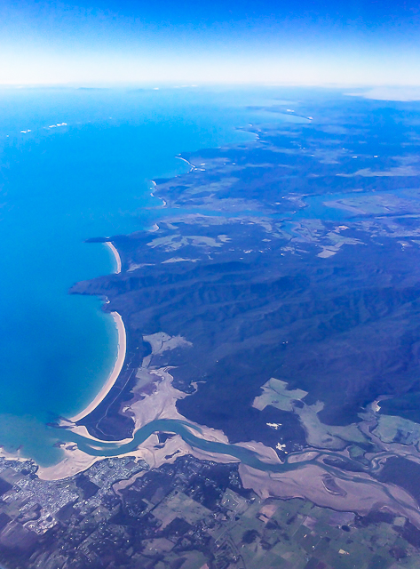 Tasmania's North Coast from above