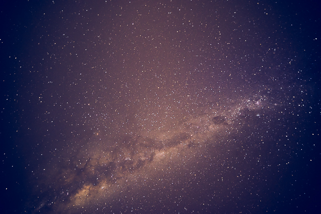 The Milky Way directly above Shearwater Resort