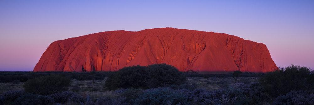 Classic Uluru sunset