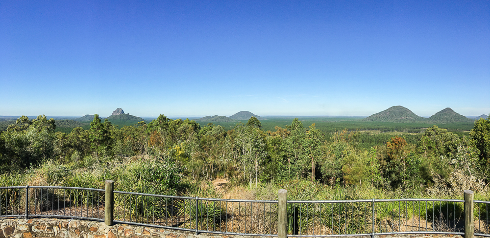 The Glasshouse Mountains