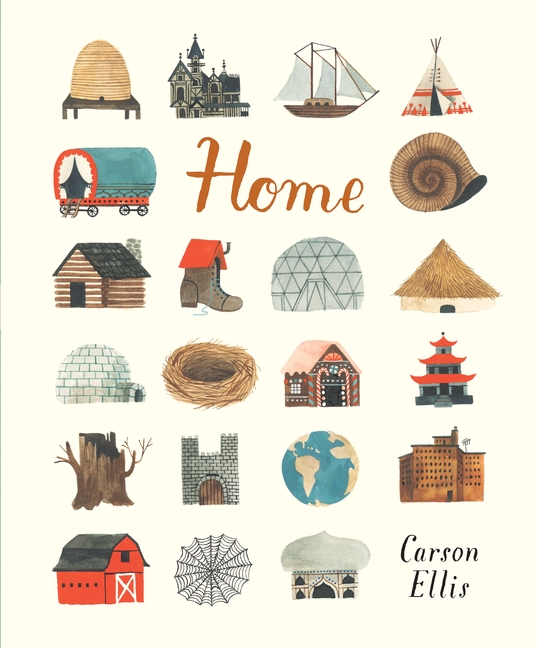 Home by Carson Ellis ( Walker Books )   This charming book is all about the different incarnations of what 'home' means. For some of us, it might be a flat in the city and for others it might be a shoe. It is one of these delicately illustrated books that we constantly revisit, finding many joys in it every time.   Get yours  here .