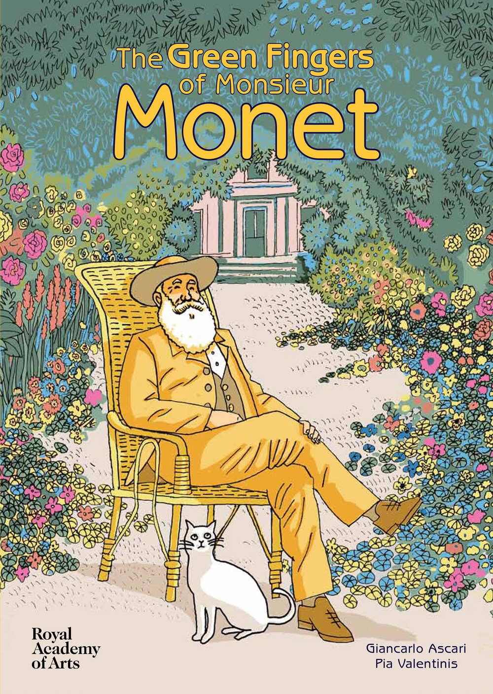 The Green Fingers Of Monsieur Monet by Giancarlo Ascari and Pia Valentinis. ( Royal Academy of Arts )   This delightful book is the perfect introduction to the work of Monsieur Monet. The first kids book published by the RA, it focuses on the Master of Impressionism's famous garden and is bursting with lovely rich  Tintin-esque  illustrations.  Get yours  here .