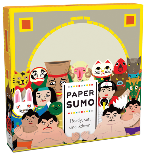 PAPER SUMO - £10.99 - CATCHING DOODLES.   Beautifully illustrated paper Sumo set, complete with wrestlers, set and crowd.    Buy it here  .