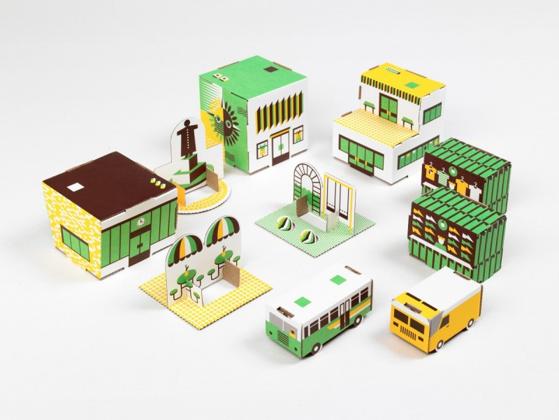 PAPER TOWN - £10 - ABACUS KIDS.   Turn your little ones into budding town planners and architects with this lovely paper town set from Ringo Toys.    Buy it here  .