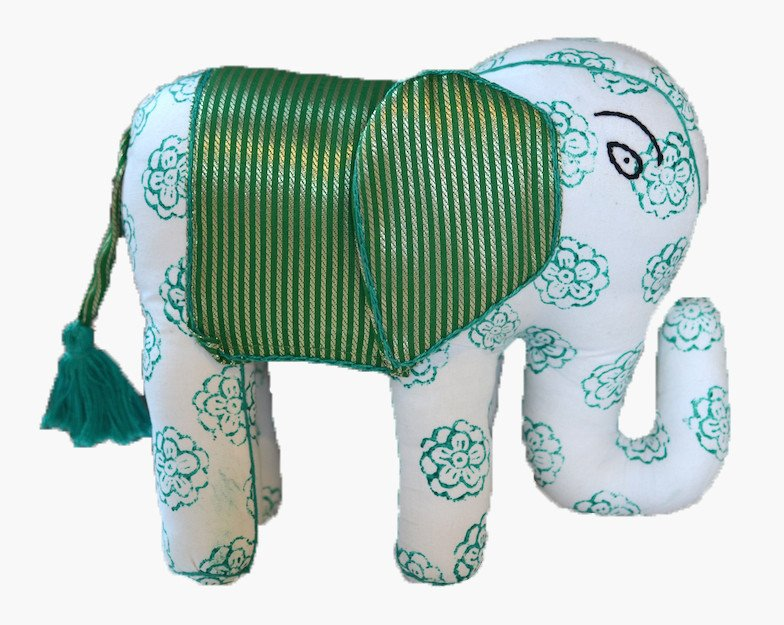CUDDLE Bhali the elephant, the perfect cuddly companion to accompany you on your long summer journeys. Available from  Postcards Home .