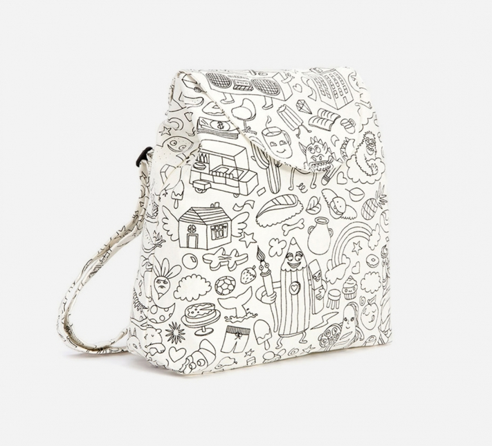 COLOUR IN a backpack? Best fun ever! Available from Omy.