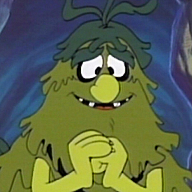 BIGWEED  Like Sigmund,  Bigweed  was also covered in seaweed! He spent his time annoying the Snorks who had little snorkels on their heads and lived in the undersea world of Snorkland. Snorks was a Hanna-Barbera cartoon that ran from 1984-1989.   Fun fact: Nancy Cartwright, the voice of Bart Simpson, voiced Daffney Gillfin, the pink snork.