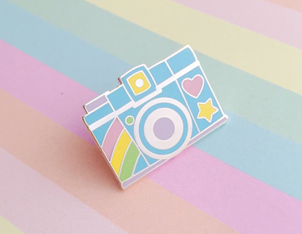 Fairy Cakes – Say cheese with this pastel coloured pin, it'll brighten up any accessory. @fairy_cakes