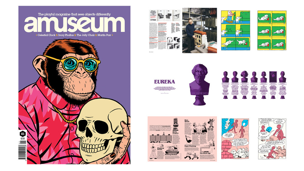 AMuseum The playful magazine that sees objects differently. Crammed with original illustration, comics, essays and contagious trivia.