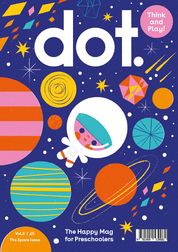 Log Book Cover Design ~ Dot goes to space — anorak