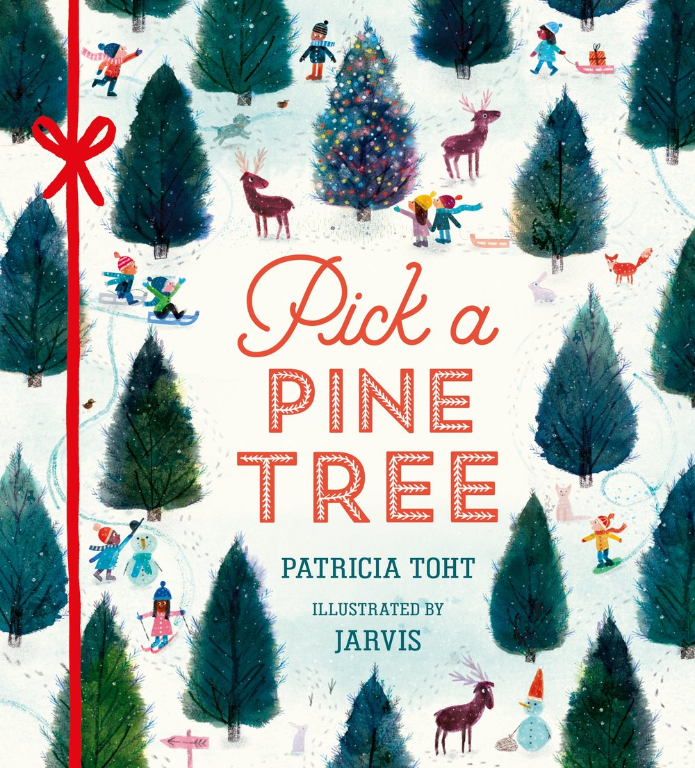 PIck a Pine Tree by Patricia Toht and Jarvis  is a joyful book about the fun and drama associated with picking a festive tree and decorating it.