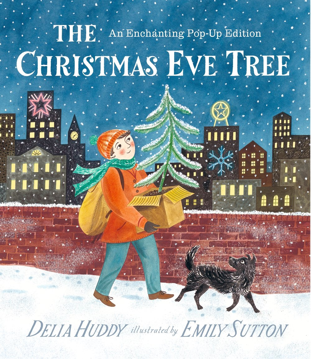 The Christmas Eve Tree by Delia Huddy and Emily Sutton  tells the story of a sweet little tree that no-one wants to pick because it is too tiny. Until a little boy rescues it and give it much festive love.