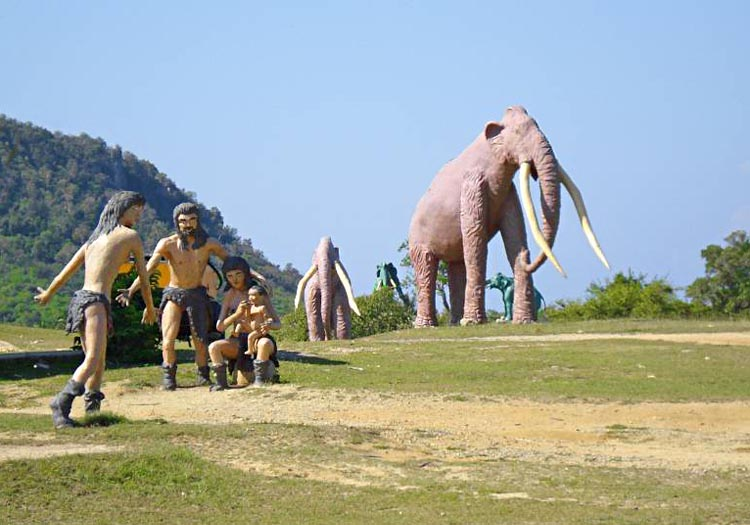 You'll find this scene at Cuba's Prehistoric Valley in Baconao Park, which opened in 1980. More than 200 life-size sculptures were made by inmates from the local prison. Photo courtesy Hi Cuba.