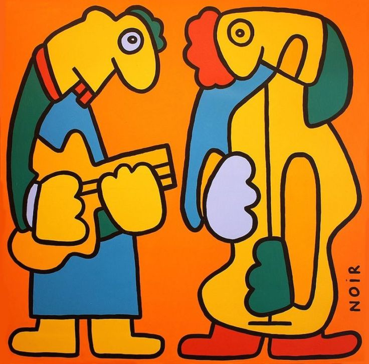 Thierry Noir's wonderful art has been cheering the walls of many cities and never fails to cheer us up too with his daily Instagram posts.