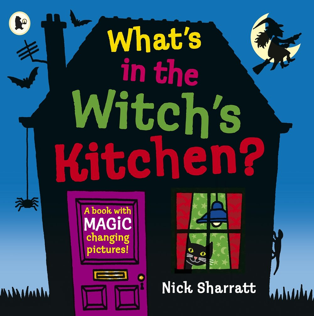 Do you ever wonder what is in a witch's kitchen? Bats with fleas? Yep. Slimy frogspawn? Yep. Find out what else in this super fun book by one of our favourite authors ever, Nick Sharratt.