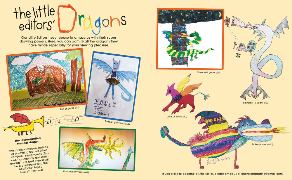 Anorak Issue 48 Little Editors Dragons Spread.jpg