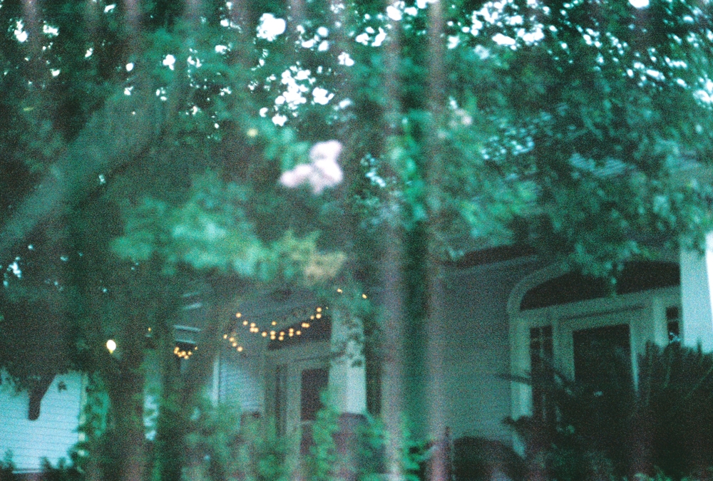 Not the greatest photo taken (it was taken inside of a moving car), but I had to capture just a few of the many string lights you would find on houses while driving around residential neighborhoods, because I. Love. String. Lights. (Ambiance!!!)