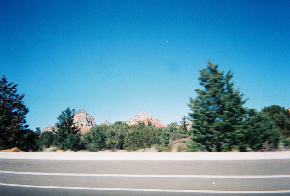 The drive nearing Sedona...