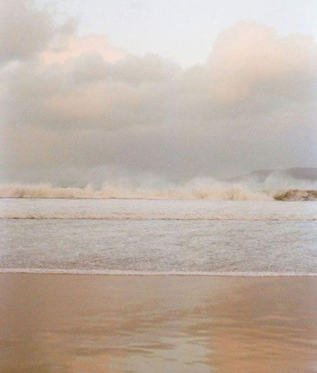 Wanderlust✨  #serene #waves #ocean #beach #sand #color #mist #inspiration #overcast #wanderlust #shippernyc