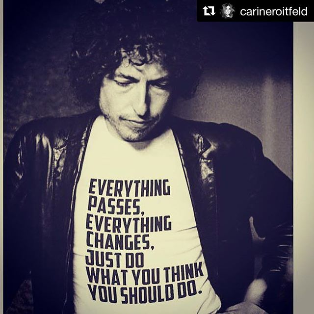 #Repost @carineroitfeld  #Friday #mood #bobdylan #notimewasted #inspiration #shippernyc