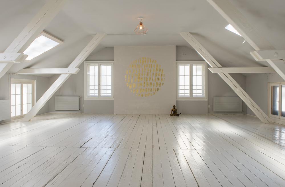 Dachraum – Raumvermietung – Yoga Studio – Zürich Wiedikon – Das Yoga Haus – 8004 Zürich
