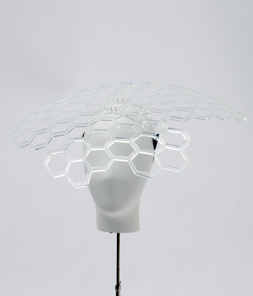 Perspex Cellular Headpiece