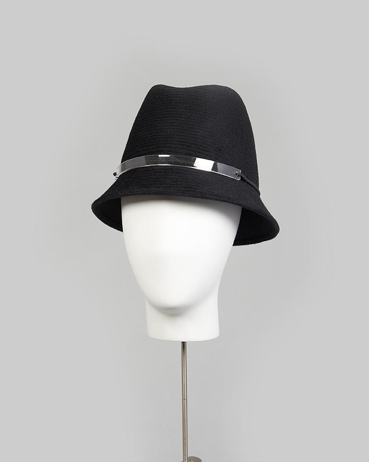 Black Rib Cloche