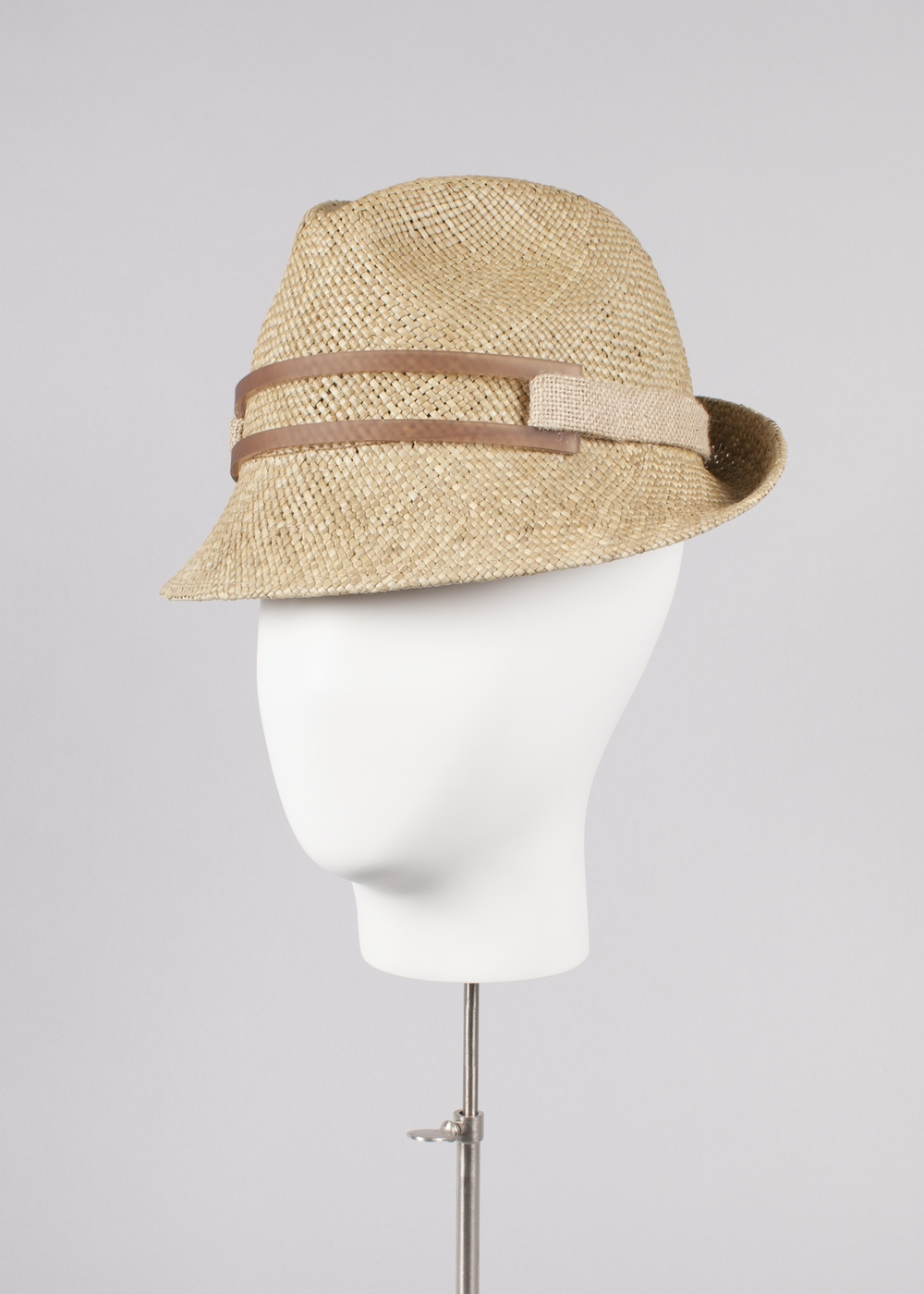 Brown Straw Downturn Trilby