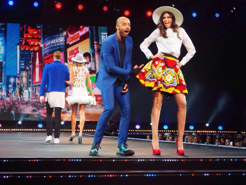 White Brim Hat - The Clothes Show Live (Styled by Karl Willett)