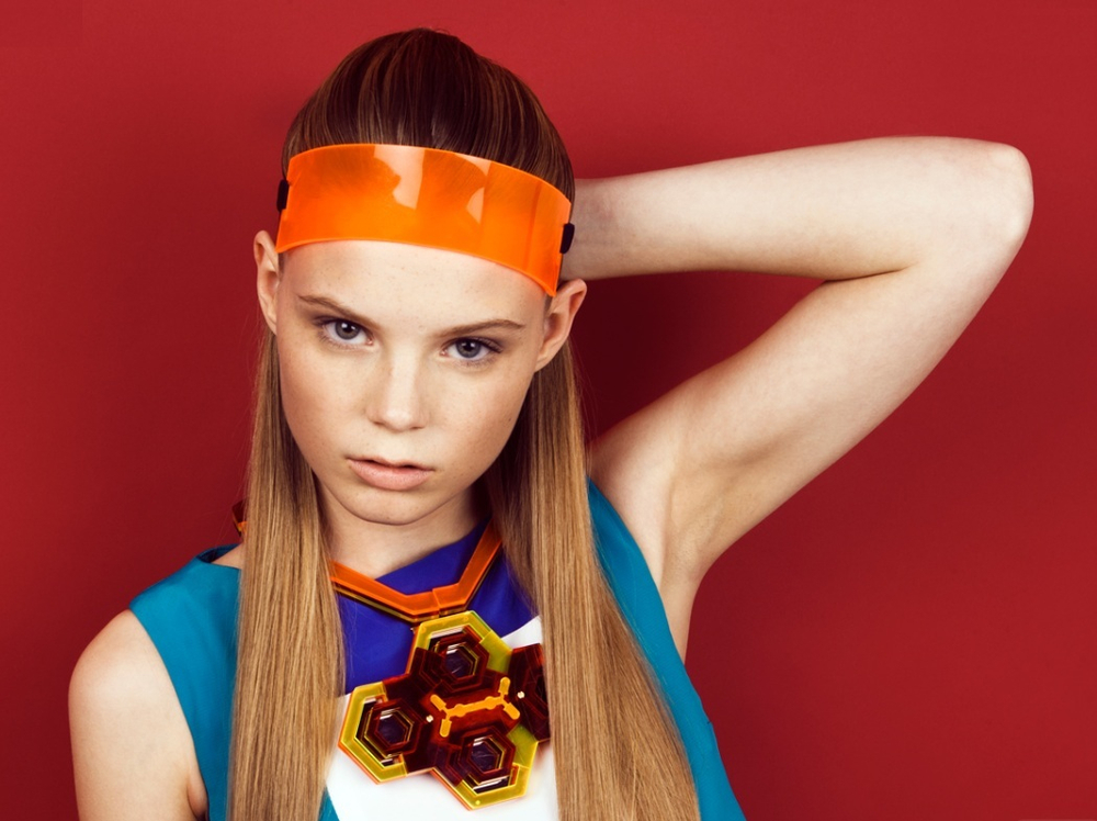 Perspex Headband - L 2 MAE Lookbook (Styled by Rachel Holland)