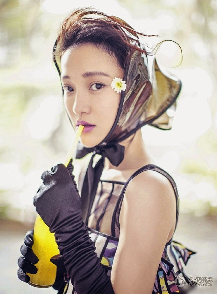 Rain Hood - Zhou Xun - Marie Claire China (Styled by Mix Wei)