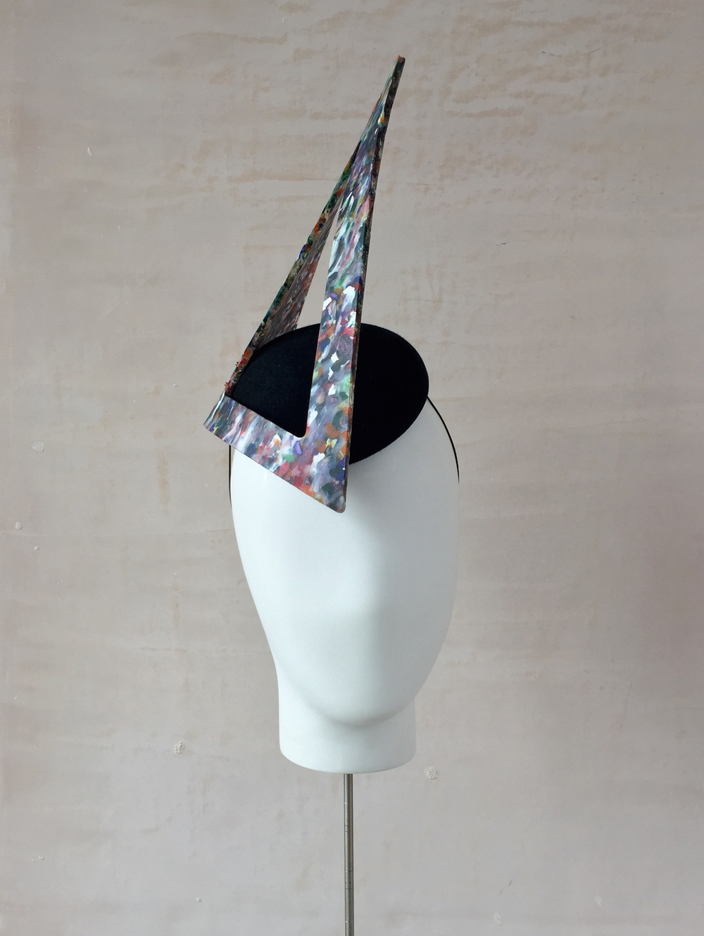 Recycled Plastic Shard Headpiece