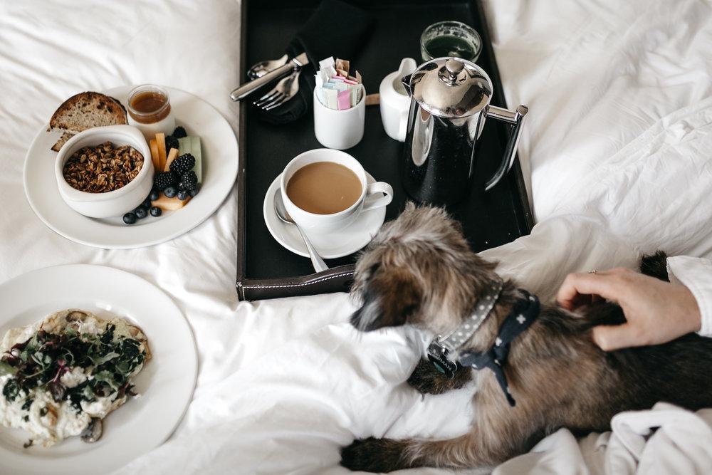 The Joule breakfast in bed