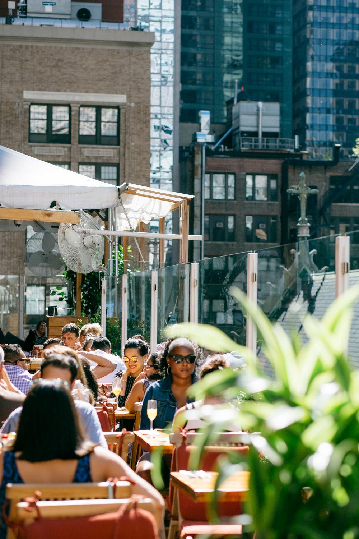 Rooftop blogger brunch hosted by Amanda Miller