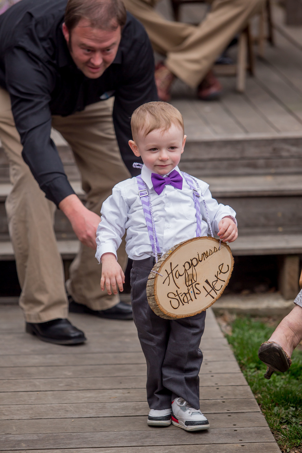 Megan's nephew was the ringbearer.