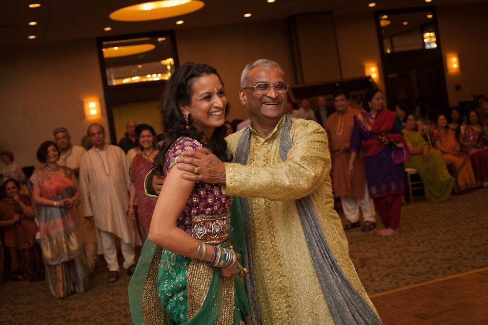 Aditi and her dad.
