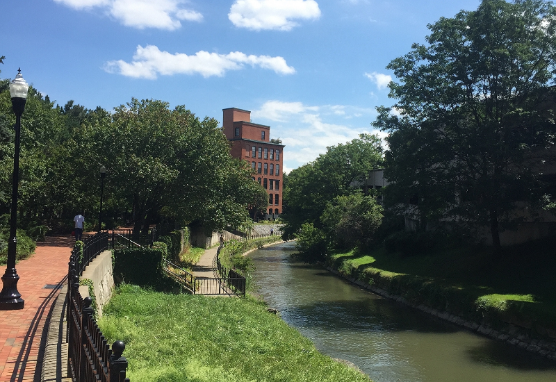 The Syracuse Creekwalk near Franklin Square