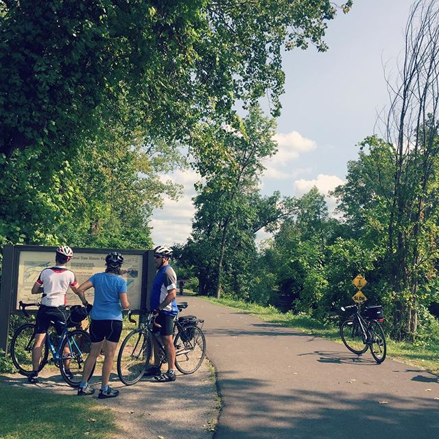Great day for a ride along the Erie Canal! These folks travelled from Maine to make the full trip from Buffalo to Albany. We happened to catch them while we were out on a special mission with @cusecycle - exciting news to come!