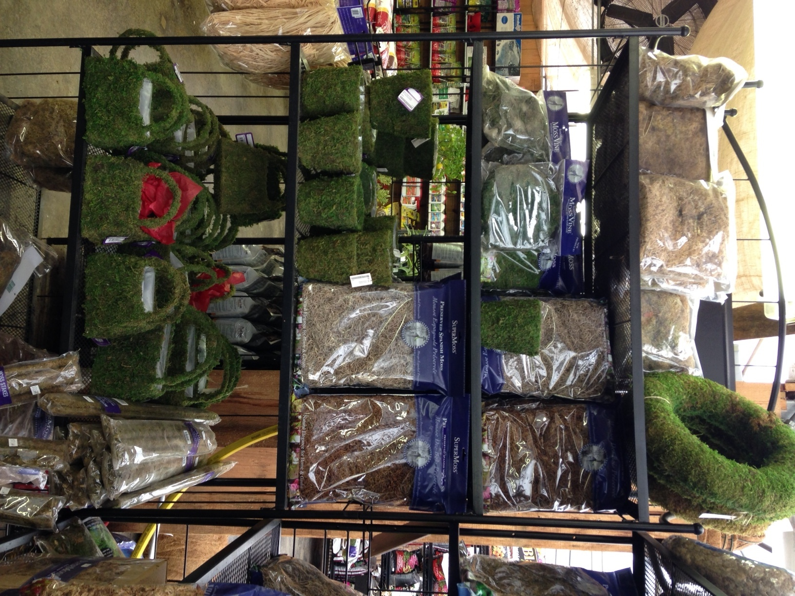 Assorted moss products