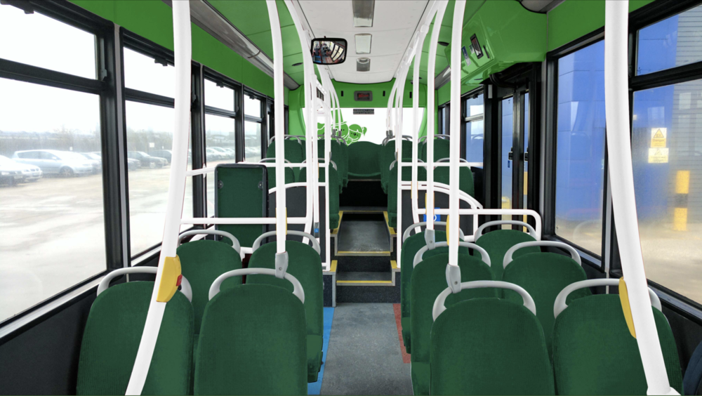 Smartbus interiors on a 5x scale