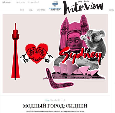 INTERVIEW MAGAZINE, Russia