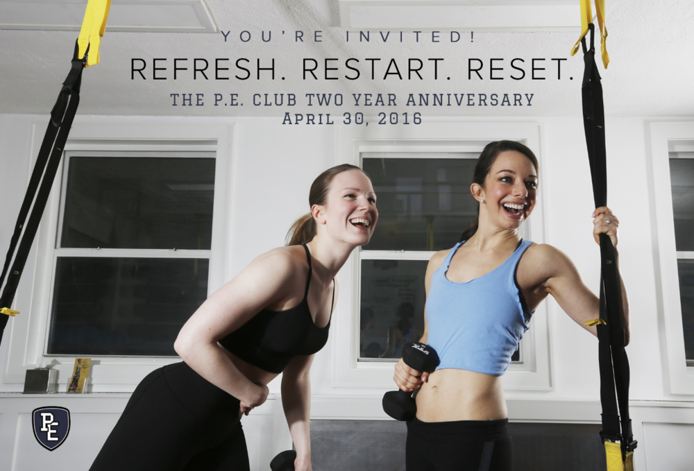 The P.E. Club Two Year Anniversary Celebration