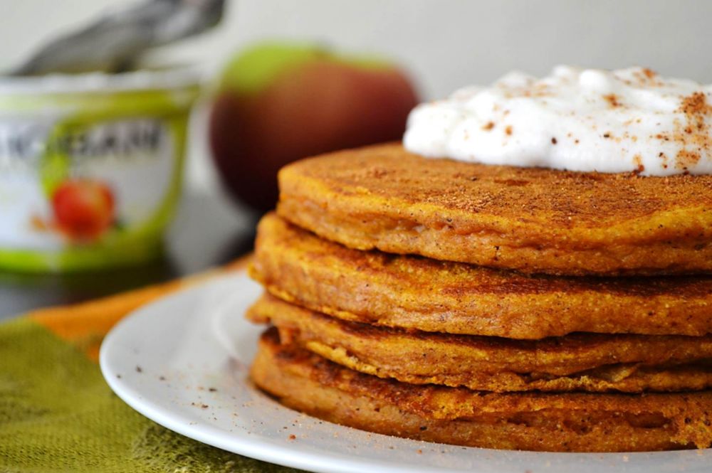 Pumpkin Protein Pancakes - The P.E. Club