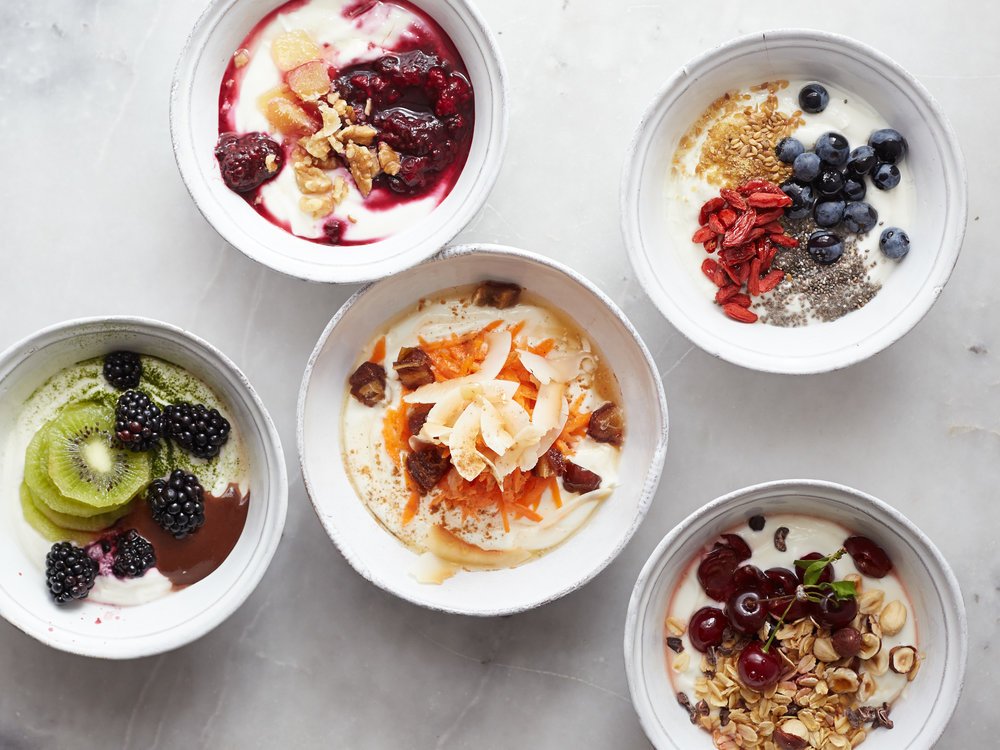 Quick Breakfast Ideas: Yogurt Bowls - The P.E. Club