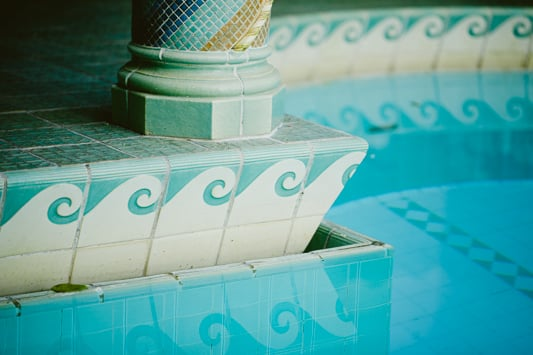 Details of the Fountain Room at the  Pleasantdale Chateau